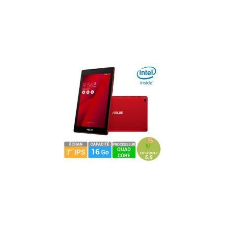 tablette tactile asus zenpad z170c 7 39 39 16go rouge cpc. Black Bedroom Furniture Sets. Home Design Ideas