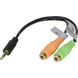 Adptatateur jack 3,5mm 3PTS vers micro & casque stereo PC99