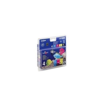 Brother LC1000 Value Pack (Noir, Jaune, Cyan, Magenta)