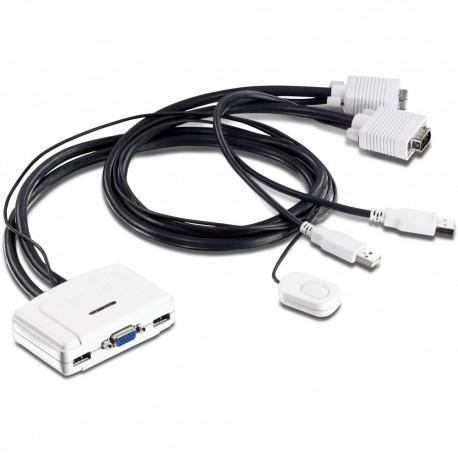 Commutateur KVM 2 ports VGA - USB