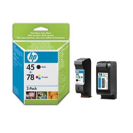 HP 45 + 78 Pack Noir + Couleur