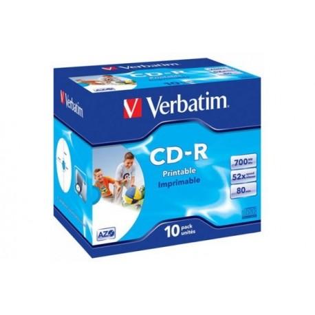 CD-R 80 Verbatim avec boîtes Cristal - Unité