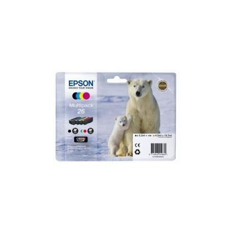 Epson multipack Noir, Cyan, Magenta, Jaune T2616 Ours polaire