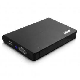 """Boitier 2,5"""" USB 3 pour disque dur SATA + e-SATA"""