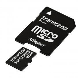Carte mémoire microSD CL10 avec adaptateur