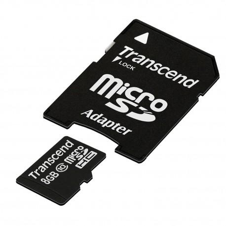 Carte mémoire microSD Transcend CL10 avec adaptateur