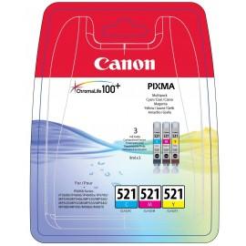Canon 521 Multipack Cyan + Magenta + Jaune CLI-521C CLI-521M CLI-521Y