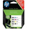 HP 364 Multipack Cyan Magenta Jaune Noir