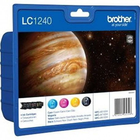 Brother LC1240 Pack Noir + Couleur (4 cartouches)