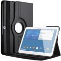 Etui Galaxy Tab 4 10.1 Pouces Housse en cuir pour Samsung Galaxy Tab 4 avec support Rotatif Noir