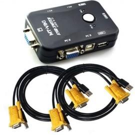 Commutateur KVM 2 ports VGA - USB avec câbles