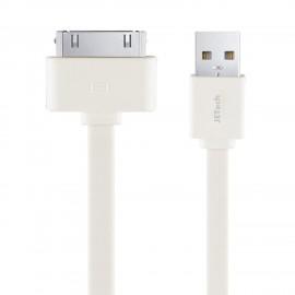 Câble plat USB 2 mètres certifié MFI pour iPhone 3G/3GS/4/iPod/iPad