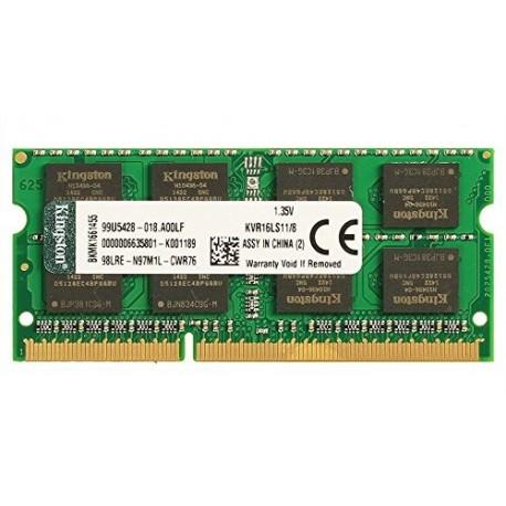 Mémoire So-Dimm DDR3 1600 Mhz CL11 8 Go Kingston