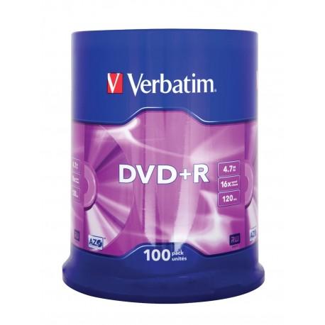 Spindle de 100 DVD+R 4.7 Go vierges Verbatim