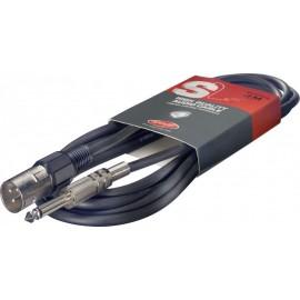 Câble audio mono Jack-XLR mâle 6m