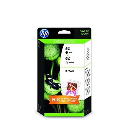 HP 62 Pack Noir + Couleur