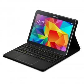 Etui de protection avec clavier AZERTY pour Samsung Galaxy Tab 4 10.1 avec Multitouch et Touchpad intégrés