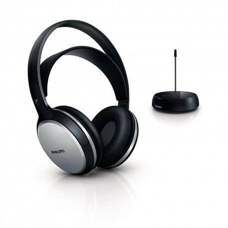 Casque Philips SHC5100 sans fil hi-fi sans fil Noir/Argent