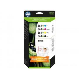 HP 364 XL Multipack Cyan Magenta Jaune Noir