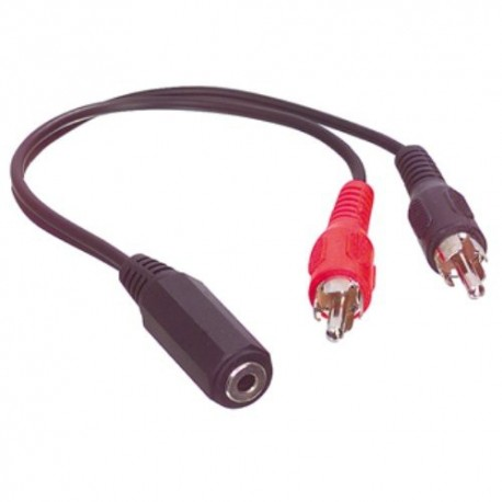 Cable cinch RCA M vers jack 3.5mm F