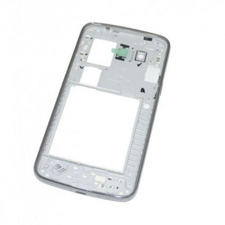 Châssis central Samsung Galaxy Grand 2 II G7105 blanc contour chromé