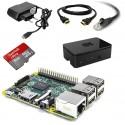 Barebone Raspberry Pi Kit de démarrage Carte Mère Raspberry Pi 2 Type B (avec Carte microSD, Câbles, Alimentation)