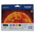 Brother LC980 Value Pack (Noir, Jaune, Cyan, Magenta)