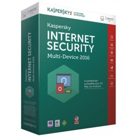 Kaspersky Internet Security 2016 1 poste 1 an