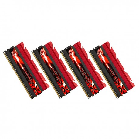 Mémoire DDR3 2400 Mhz 32 Go (4x8Go) GSkill C10 Trident X
