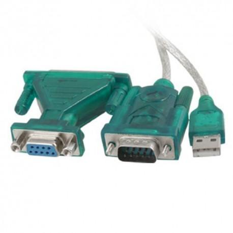 Adaptateur USB vers connecteur DB9 et DB25