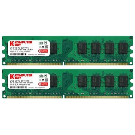 Mémoire DDR2 800 Mhz 4 Go (2x2Go) Komp Bay