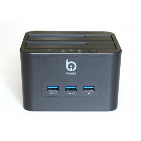 """Docking station SATA 3,5""""/2,5"""" USB 3.0 + 3 x USB 3.0"""