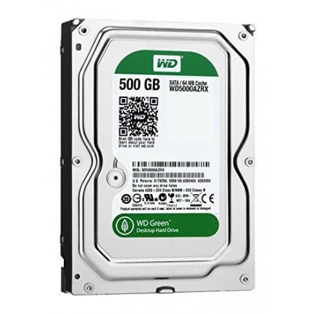 "Disque dur interne 3.5"" WD Green 500Go SATA3 64Mo Cache 7200rpm"
