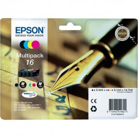 Epson multipack Noir, Cyan, Magenta, Jaune T1626 Stylo plume