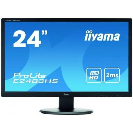 "Moniteur iiyama 23.6"" LED ProLite E2483HS-B1 1920 x 1080 2 ms VGA/DVI/HDMI"