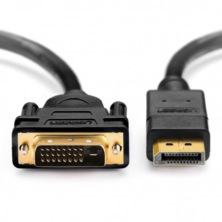 Câble DisplayPort vers DVI 24+1 Plaqué Or 2M