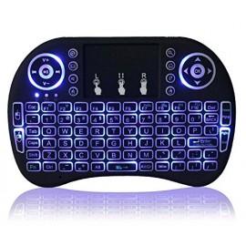 Mini clavier touchpad rétroéclairé 3 couleurs sans fil