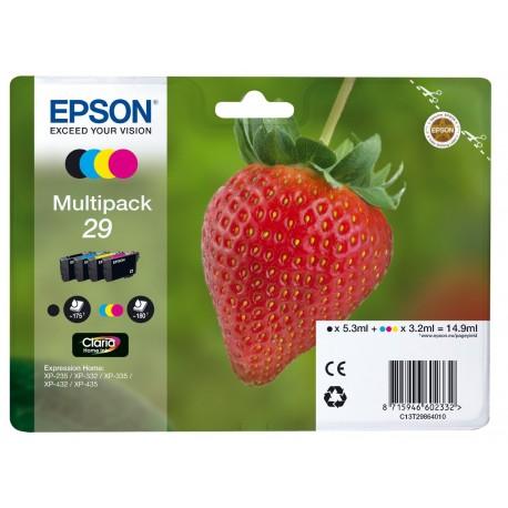 Epson multipack T29 Noir, Cyan, Magenta, Jaune T2986 Fraise