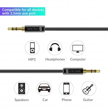 Cable jack 3.5mm M/M 1m garanti à vie