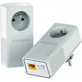 Netgear PLP1200-100FRS - Pack de 2 adaptateurs CPL 1200 avec prise filtrée et 1 port Ethernet
