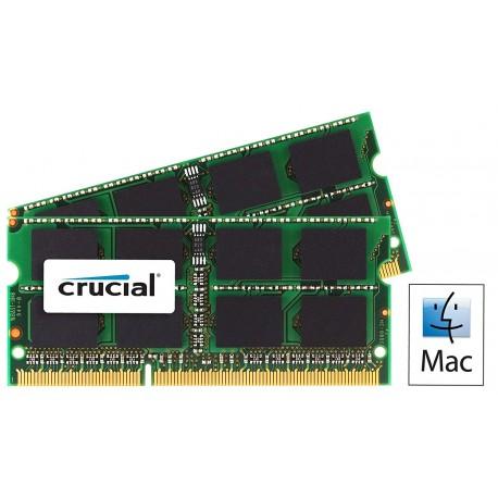 Mémoire So-DIMM DDR3 1066 Mhz 4 Go (2 x 2Go) Crucial PC3-8500