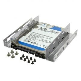 Berceau métal pour disque dur 2.5'' et 3.5'' dans baie 5.25'' (SSD ou HDD)