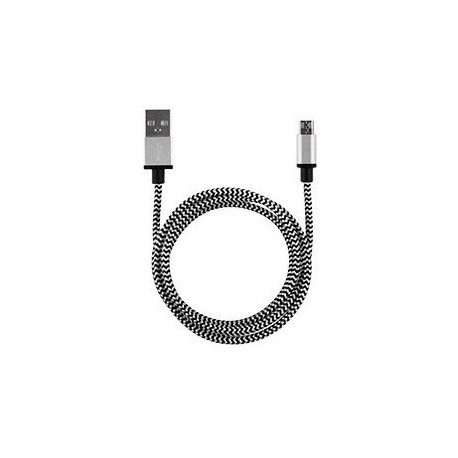 Câble USB / USB type-C USB-C 2m nylon couleur