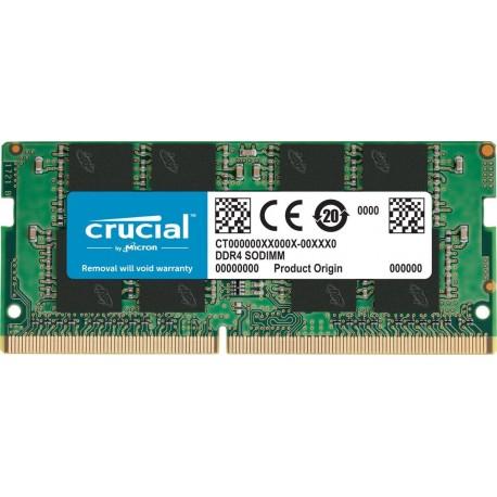 Mémoire So-Dimm DDR4 1.2V 2133 Mhz 8 Go Crucial