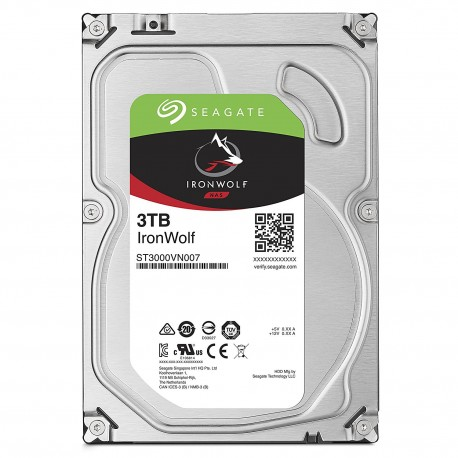 "Disque dur interne 3.5"" Seagate Ironwolf 3To 3000Go SATA3 64Mo Cache 5900rpm"