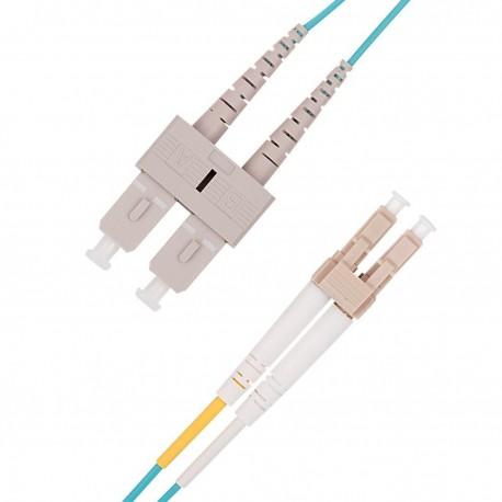 Câble Patch 10G fibre optique multimode OM3 Duplex 50/125 OFNR (2M, SC-LC OM3)