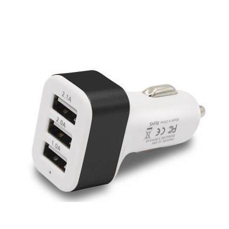 Chargeur USB triple 5.100 mAh sur allume-cigare