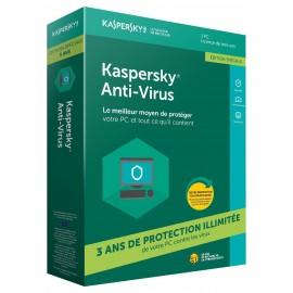 Kaspersky Antivirus 2018 1 poste 3 ans