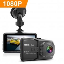 Caméra de voiture écran 3'' Full HD 1080p WDR, Capteur-G, enregistrement en boucle + fonction parking
