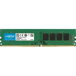 Mémoire Dimm Crucial DDR4 2400 MT/s, PC4-19200, SR x8, DIMM, 288-Pin